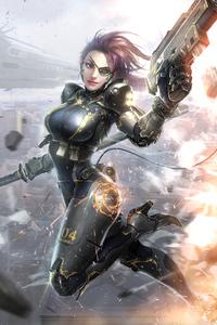 640x960 Secret Female Agent Warrior Girl 4k