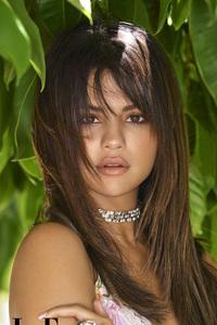 240x320 Selena Gomez Face Portrait Elle Photoshoot 4k