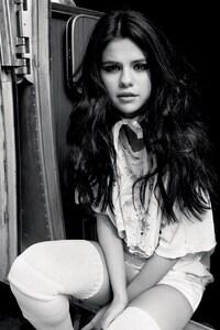 Selena Gomez Monochrome