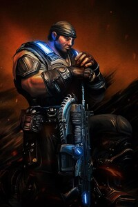 1440x2560 Sergeant Gears Of War