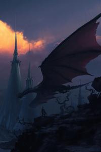 480x854 Shadow Lands Dragon 4k
