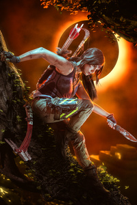 1280x2120 Shadow Of The Tomb Raider Cosplay 5k