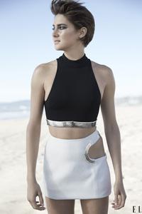 Shailene Woodley Elle 2018