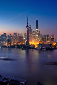 Shanghai China Buildings Light