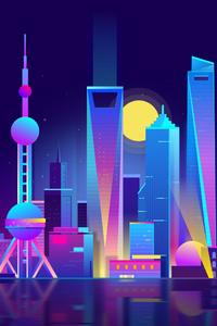 Shanghai City Hd Illustration
