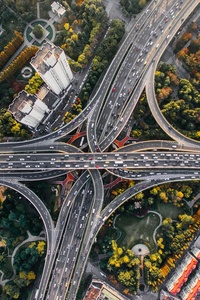 750x1334 Shanghai Cross Bridge China Aerial View 4k