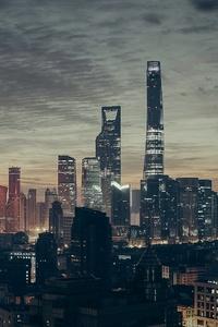 Shanghai Metropolitan City Skyscraper Tower Buildings