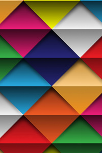 640x960 Shapes Triangle Abstract Colorful