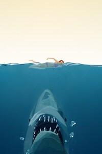 Shark Minimalism Art