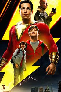 320x480 Shazam Movie New Poster