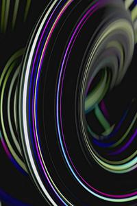 360x640 Shining Lines Swirl 4k