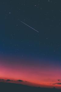 Shooting Stars In Sky 4k