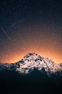 Shooting Stars Over Annapurna Mountains 4k