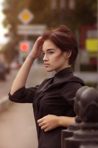 1080x1920 Short Hair Girl Looking Away