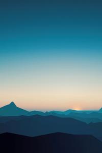 800x1280 Silent Mountains Minimal 8k