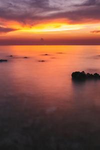 1440x2560 Silent Ocean Sunset 4k