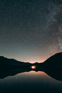 240x400 Silhouette Astronomy 5k