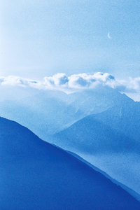 1080x2280 Silhouette Of Mountains Under Cloudy Sky 5k