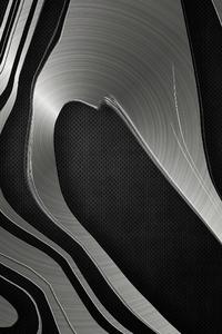 Silver Metal Shine Abstract 4k