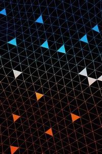1080x2280 Simple Triangles Abstract Dark 4k