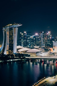320x480 Singapore Amusement Park 4k