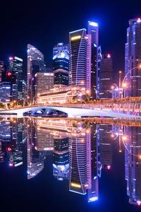 640x960 Singapore City Skyline 5k