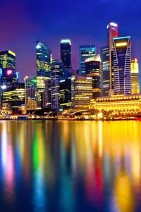 640x960 Singapore Cityscape