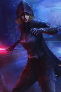 1242x2688 Sith Starwars Assassin