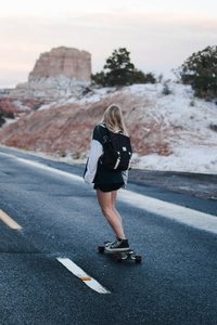 1280x2120 Skateboard Girl 4k 5k