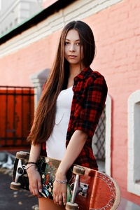Skateboard Women Outdoors