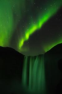 Skogafoss Aurora