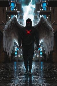 2160x3840 Skull Angel 4k