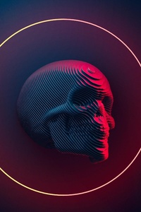 1440x2560 Skull Art 4k