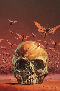 1280x2120 Skull Bugs 4k