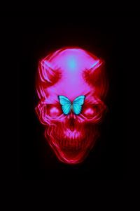 320x480 Skull Butterfly 10k