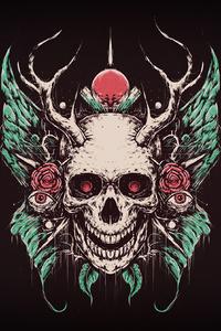 320x480 Skull Crown 4k