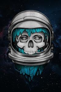Skull Dark Astronaut