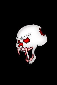 480x800 Skull Dark Black 5k