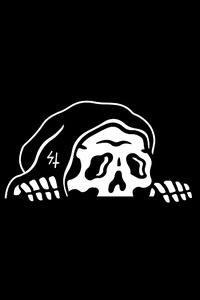 240x400 Skull Dark Black Minimal 4k