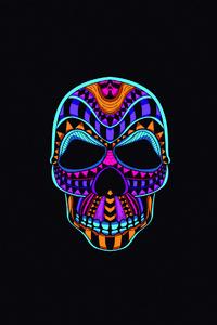 640x1136 Skull Dark Minimal 4k