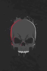 240x400 Skull Dark Minimalism 4k
