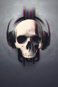 720x1280 Skull Glitch Art