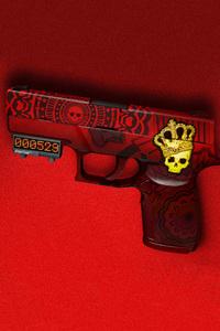 1125x2436 Skull Gun 4k
