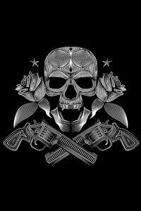 Skull Gun N Roses 8k