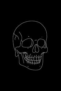 320x480 Skull Light Minimal 4k