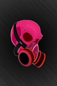 1080x2280 Skull Minimal 5k