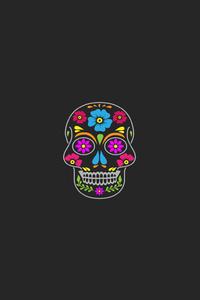 1080x2280 Skull Minimal Art
