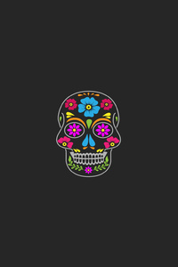 720x1280 Skull Minimal Artwork