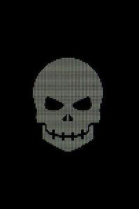 480x800 Skull Minimal Pixel 4k