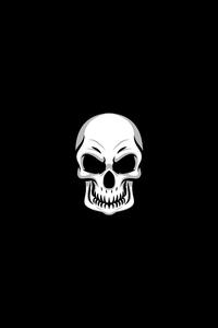 720x1280 Skull Minimal